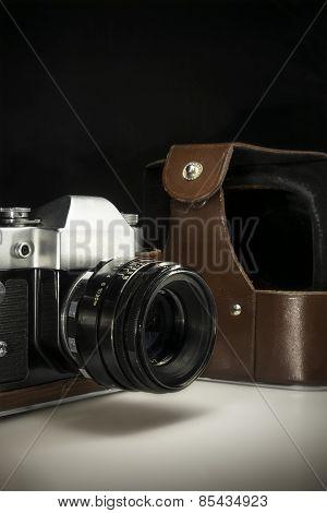 Old Retro Camera Closeup