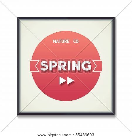 Spring concept poster