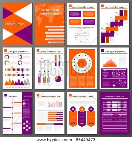 Infographic brochure and flyer design templates set