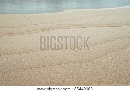 Wave Lines In The Sand