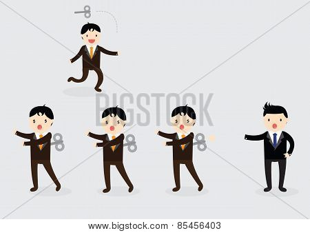 Wind-up Businessman Concept