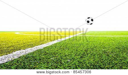 Green Grass For Football Sport