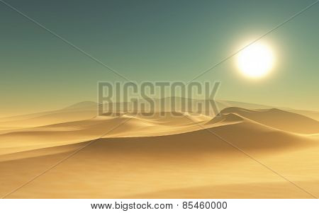 3D render of a desert scene