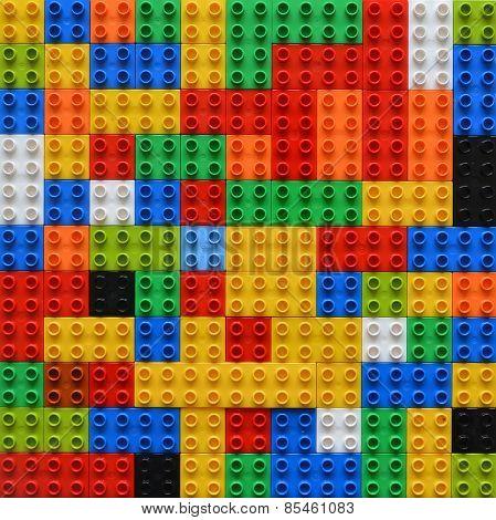 Random organised blocks background