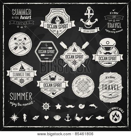 Vintage design elements. Vector illustration.