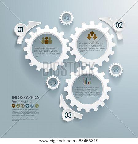 Cogwheels Abstract Modern Infographics Background
