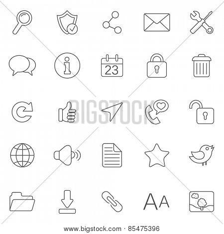 Internet line icons.Set 1.Vector