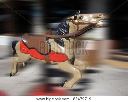 Old fashioned child's horse ride