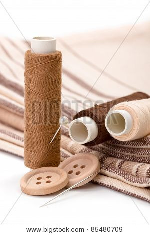 Brown Sewing Kit