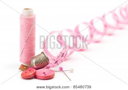 Sewing Accessories: Thread, Needle And Thimble