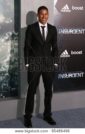 NEW YORK-MAR 16: Actor Keiynan Lonsdale attends the U.S. premiere of