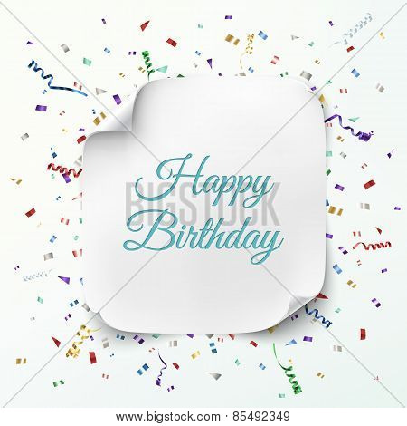 Happy Birthday greeting card template