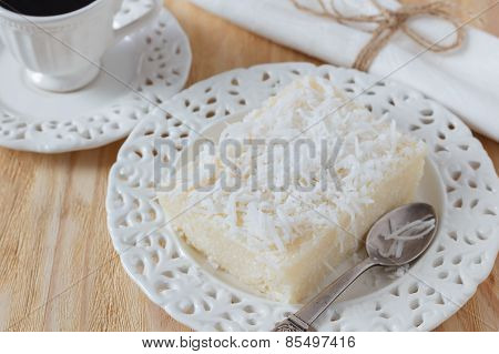 Brazilian Sweet Couscous Pudding (cuscuz Doce) With Coconut