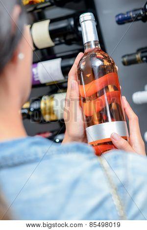 Woman wine shopping