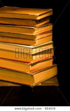 Vintage, Antique Stack Of Books Painted With Light