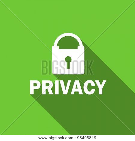 privacy flat icon  original modern design green flat icon for web and mobile app with long shadow  poster