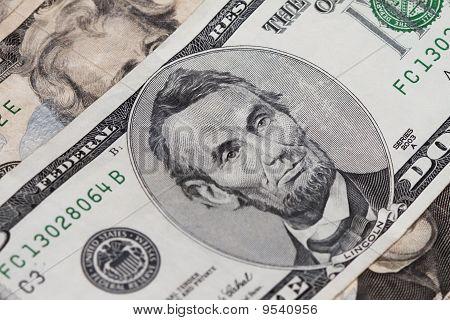 Abrahan Lincoln Five Dollar Bill