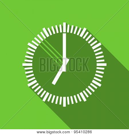 time flat icon clock sign original modern design flat icon for web and mobile app with long shadow