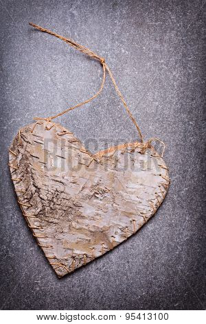 Decorative Heart On  Grey Background