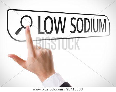 Low Sodium written in search bar on virtual screen