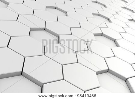 Hexagon background - white edition