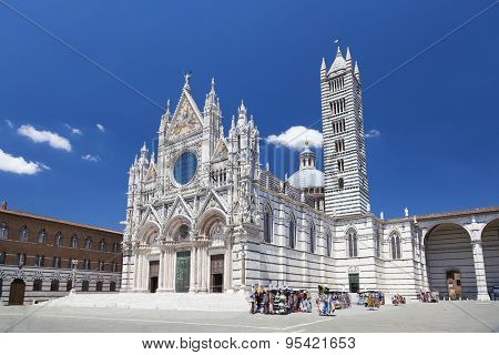 Siena cathedral in a sunny summer day, Tuscany, Italy, Europe.