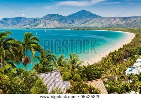 Port Douglas beach and ocean on sunny day, Queensland, Australia