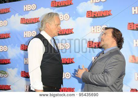 LOS ANGELES - JUN 8: Tim Robbins, Jack Black at the Premiere of HBO's 'The Brink' at the Paramount Theater at Paramount Studios on June 8, 2015 in Los Angeles, CA