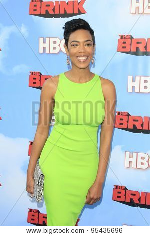 LOS ANGELES - JUN 8: Jazmyn Simon at the Premiere of HBO's 'The Brink' at the Paramount Theater at Paramount Studios on June 8, 2015 in Los Angeles, CA