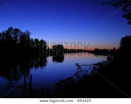 Sundown By The Riverside