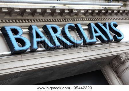 Barclays Bank Sign London