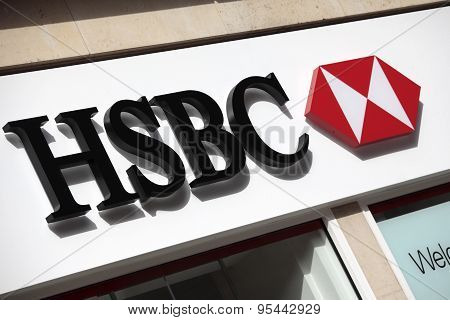 Hsbc Bank Sign London