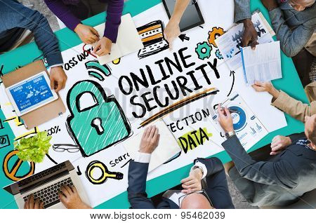 poster of Online Security Password Information Protection Privacy Internet Concept