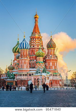 View on St. Basil's Cathedral in Moscow, Russia