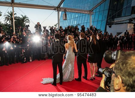 Cannes, France - May 16, 2015: Gus Van Sant, Naomi Watts, Matthew McConaughey and Chris Sparling attend the Premiere of 'The Sea Of Trees' during the 68th annual Cannes Film Festival on May 16, 2015 in Cannes, France.