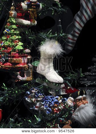 Christmas Ice Skate Ornament