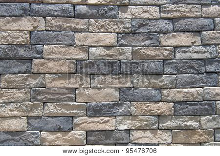 hand made rustic rock wall