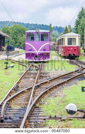 narrow gauge railway, Nova Bystrice, Czech Republic