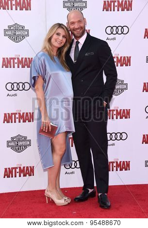 LOS ANGELES - JUN 29:  Corey Stoll & Nadia Bowers arrives to the