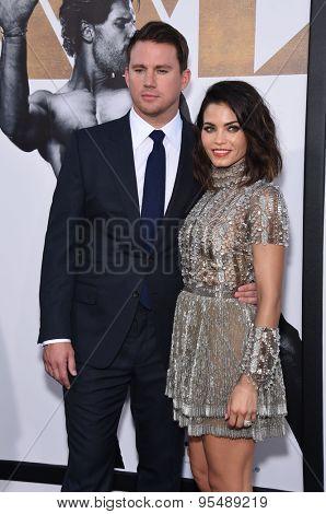 LOS ANGELES - JUN 25:  Channing Tatum & Jenna Dewan-Tatum arrives to the