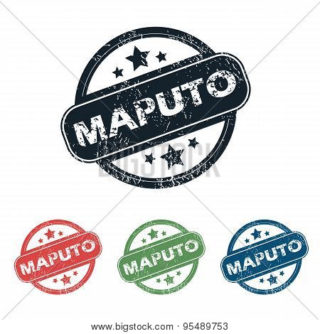 Round Maputo city stamp set