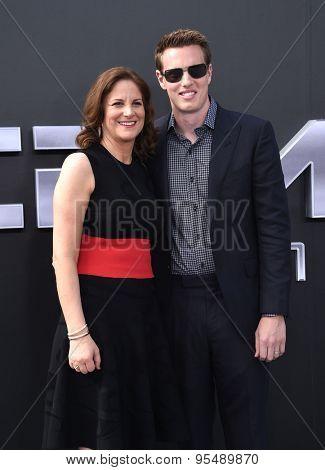 LOS ANGELES - JUN 28:  David Ellison & Dana Goldberg arrives to the