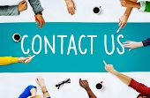 Contact Us Hotline Info Service Customer Care Concept poster