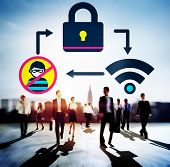 Online Security Protection Networking Privacy Concept poster