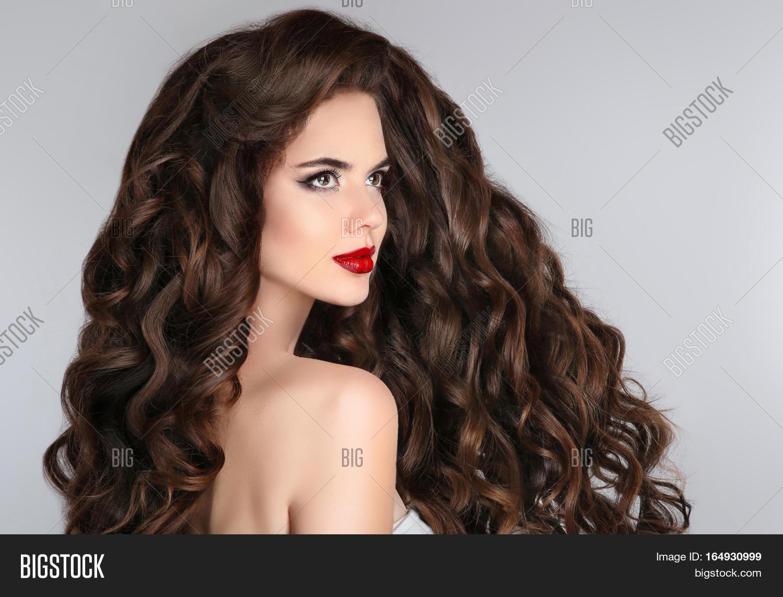 Brunette Long Hair Image Photo Free Trial Bigstock