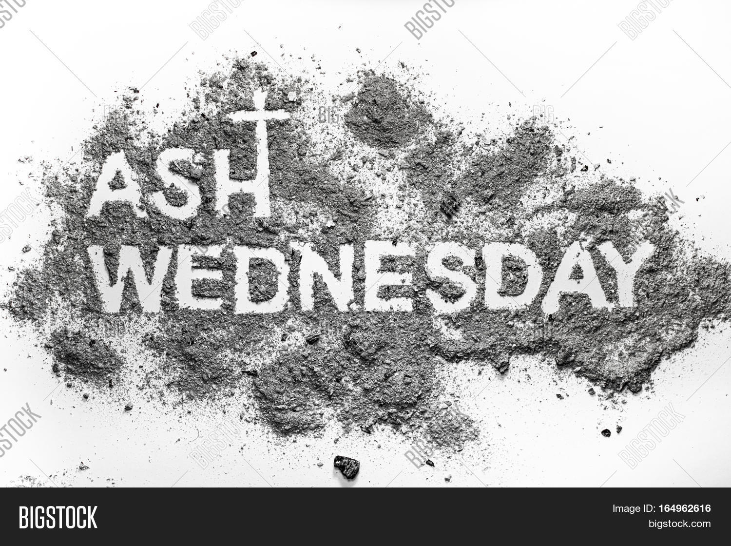 ash wednesday word image photo free trial bigstock
