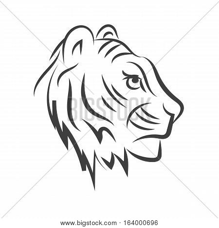 Tiger Icon Ilogo Solated On A White Background Animal Eps 10