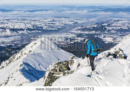 Mountaineer Winter On The Ridge.