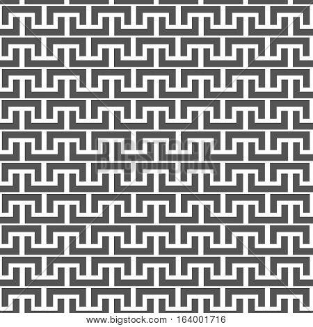 Black and white abstract background repeating texture of the halves of the rectangle vector illustration.