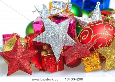 Christmas Ornaments_isolated On White Background